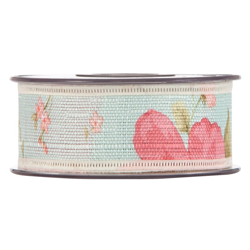 Cotton ribbon romance, mint, 40 mm x 15 m