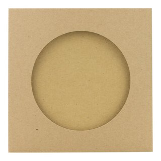 10 x CD wallet with view hole 85 mm, kraft cardboard, brown
