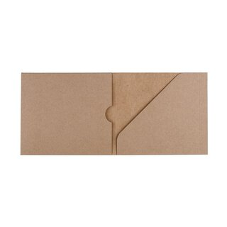 CD case PacNo. 3, kraft cardboard, for CD and booklet -...