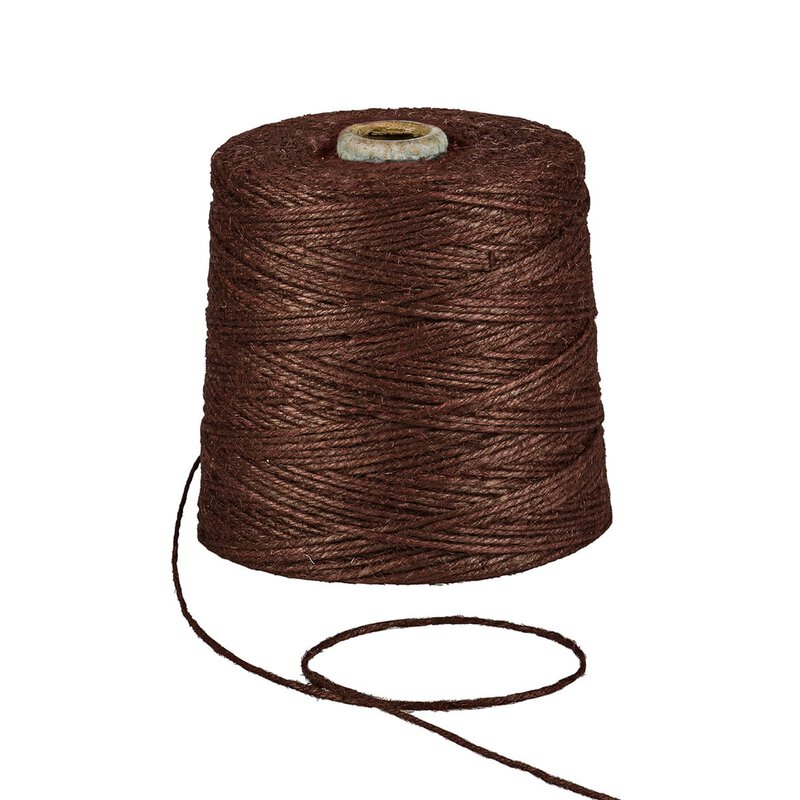 Jute twine, brown, 1 kg, approx. 500 m jute cord, 100% jute on cardboard spool