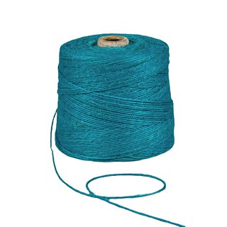 Jute twine, turquoise, 1 kg, approx. 500 m jute cord,...