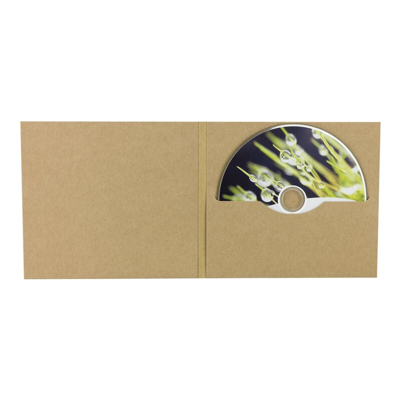 CD digifile cover with 1 slot, brown, kraft cardboard PN5