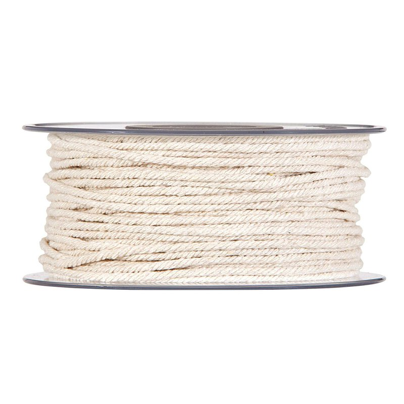 Cotton cord, natural, 5 mm x 30 meters