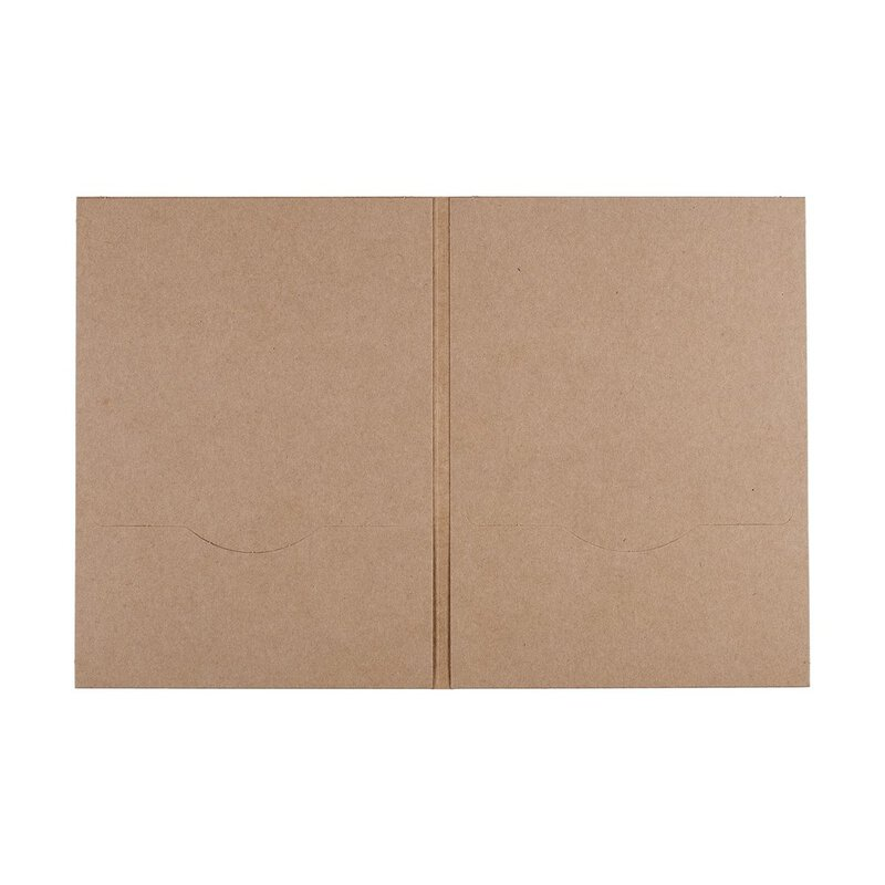 10 x DVD sleeve, 2 slots, kraft cardboard, brown, unprinted PN7