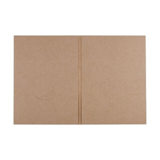 10 x DVD sleeve, 2 slots, kraft cardboard, brown,...