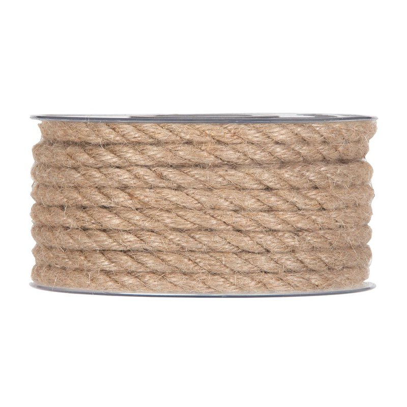 Jute cord and rope, natural, 8  mm x 9,5 meters