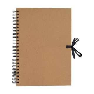 Album A3 kraft, kraft paper 40 sheets, blank, scrapbooking