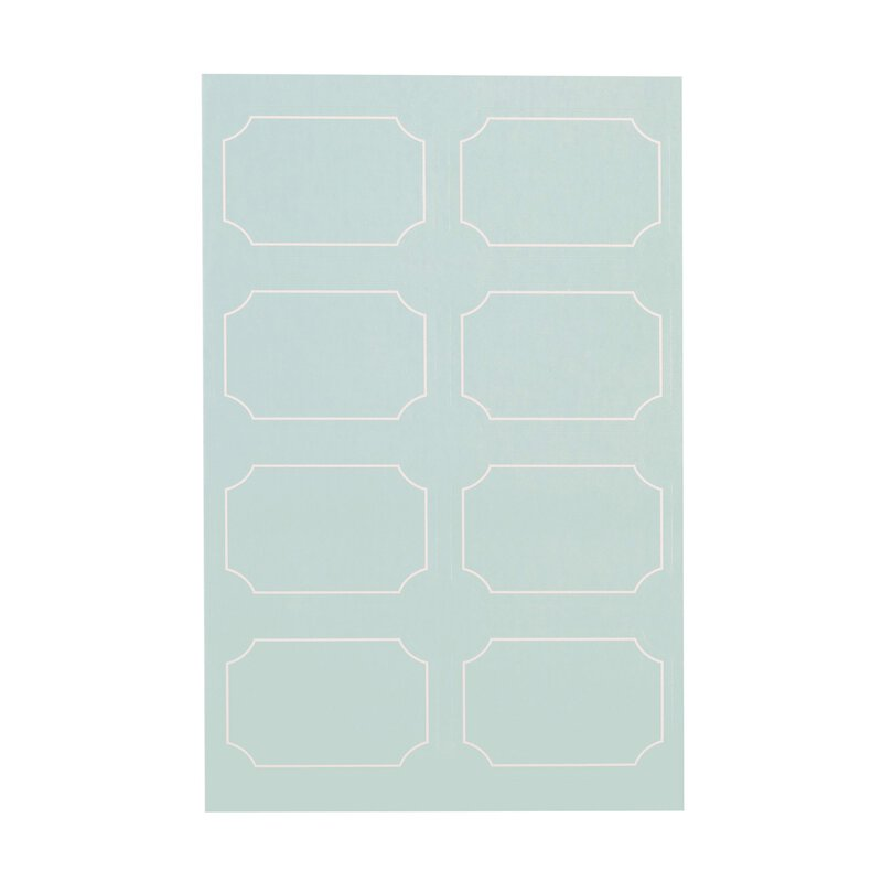 48 stickers self-adhesive, sky blue with white contour, 30 x 45 mm