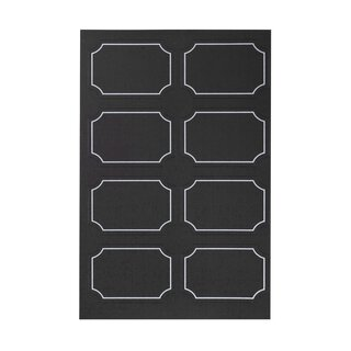 48 stickers self-adhesive, black with white contour, 30 x...