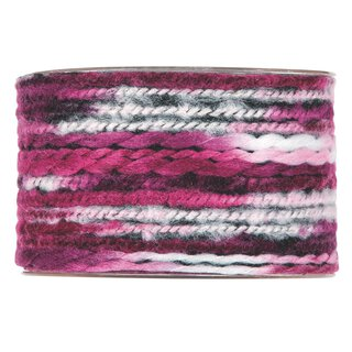 Multicolor wool ribbon, fuchsia,  63 mm x 5 m