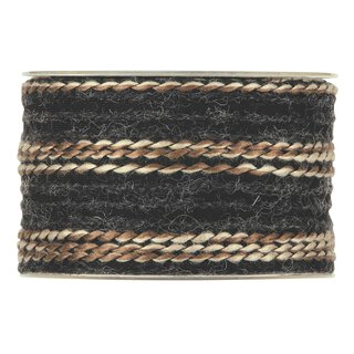 Multicolor wool ribbon 63 mm x 5 m, black