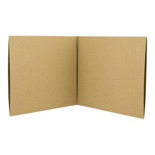 10 x CD cover, 2 sleeves, brown, kraft cardboard,...