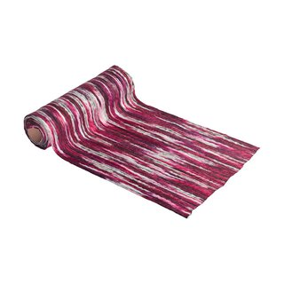 Multicolor wool runner 30 cm x 2,5 m, fuchsia
