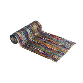Multicolor wool runner 30 cm x 2,5 m, colourful