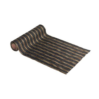 Multicolor wool runner 30 cm x 2,5 m, black