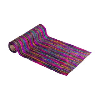 Multicolor wool runner 30 cm x 2,5 m, bordeaux, fuchsia,...