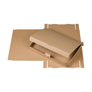 A4 box with hinged lid, kraft cardboard 600 g/m², brown,...