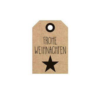 Hangtags Merry Christmas with star, gift tag 35 x 52 mm,...