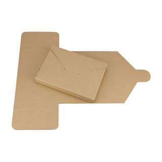 10 x Folding box Mailer, C6, kraft cardboard, brown - 10...