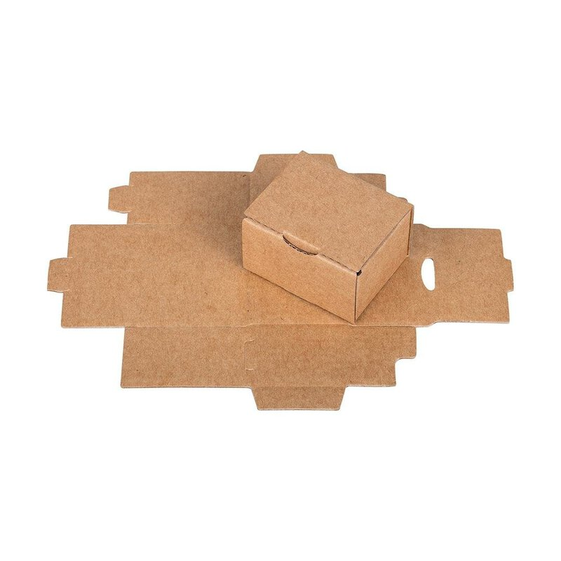 10 x Box 6 x 4,3 x 3,5 cm, hinged lid, kraft paper, corrugated board