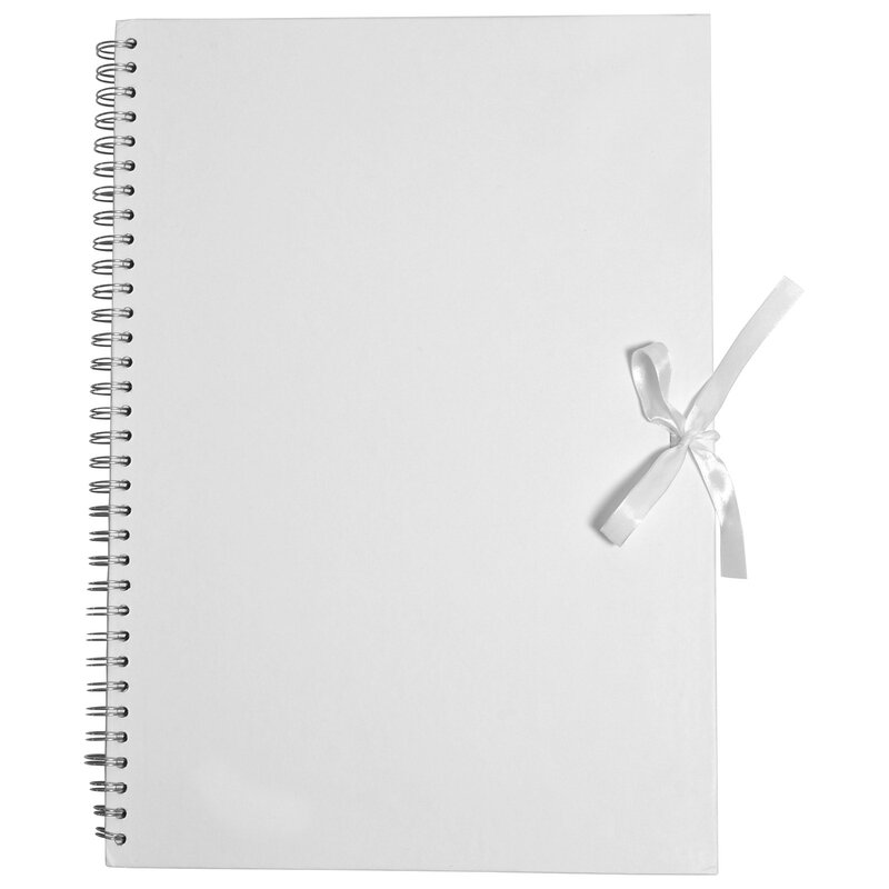 Album A3, cardboard, white, 40 sheets, blank, scrapbooking