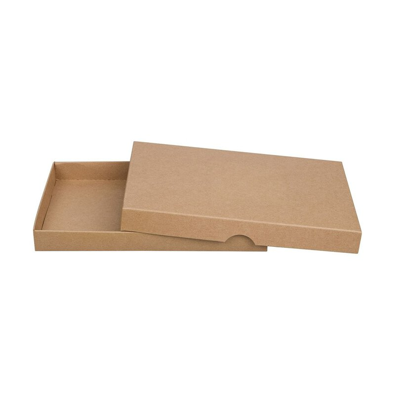 10 x Folding box, 13 x 19 cm, kraft cardboard, with lid