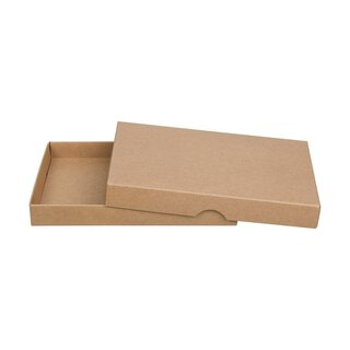 10 x Folding box for C6, kraft cardboard, with lid, brown