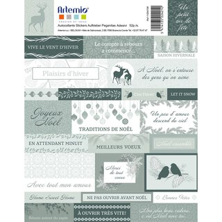 Sticker MISTY WINTER, vorgestanzte Klebeetiketten - 52...