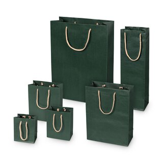 Shopping bag green, different sizes, kraft paper, with...