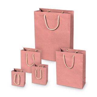 Shopping bag Pink, different sizes, kraft paper, with...