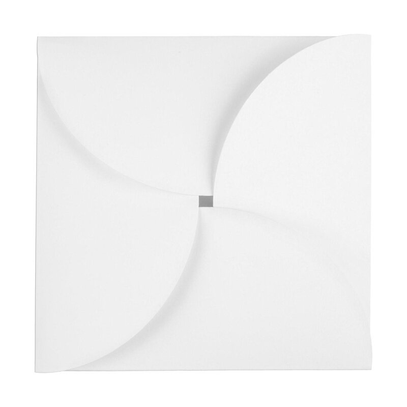 25 x CD, card  and gift pocket, 125 x 125 mm,white cardboard