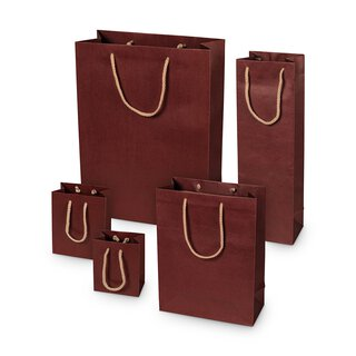 Shopping bag burgundy, different sizes, kraft paper, with...