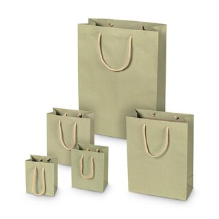 Shopping bag Sage green, different sizes, kraft paper,...