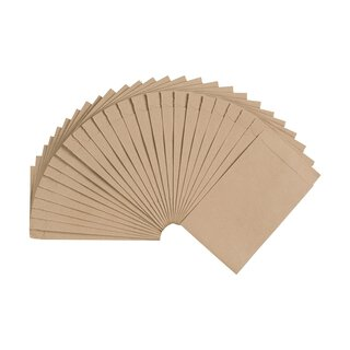 Flat bag 75 x 117 mm, kraft paper 70 g/m², brown, smooth,...
