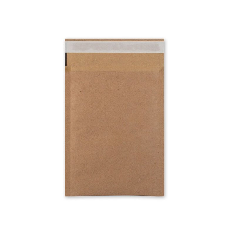 Envelope 150 x 215 mm, light padding bag, brown, smooth, kraft paper, self-adhesive