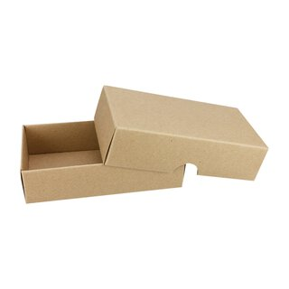 10 x Folding Box, 54 x 105 mm, lid, kraft cardboard