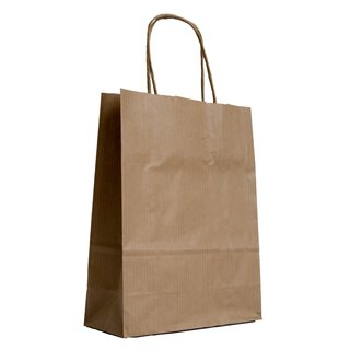Paper bag, 26 x 34 x 12 cm, Brown, kraft paper ribbed,...