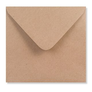Envelope 155 x 155 mm, brown, smooth, paper 125 gsm, wet...