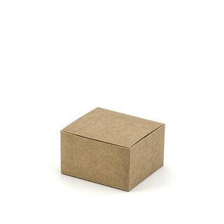 10 boxes 6 x 5.5 x 3.5 cm, kraft cardboard, for guest gift
