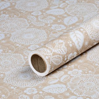 Gift wrapping paper Flower Fantasy, kraft paper, ribbed,...