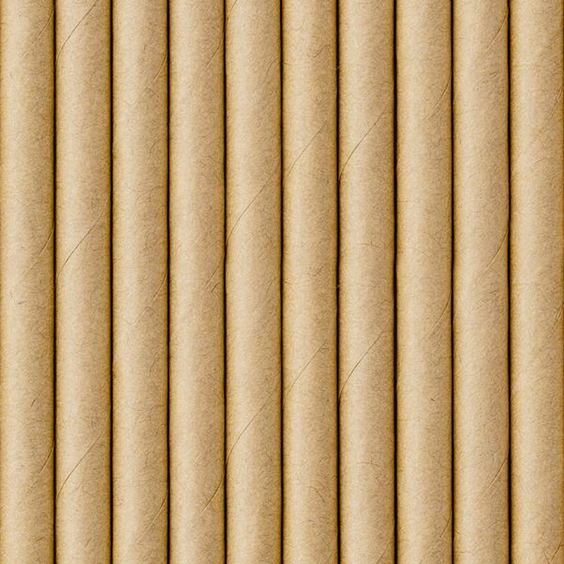 Drinking straws kraft paper - 10 pieces
