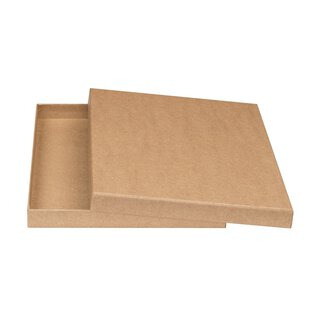 A4 box with lid, 2 cm high, solid cardboard covered with...