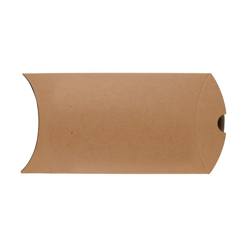 Pillow Box C6, 162 x 114 mm, cardboard, beige, Manila Kraftoptik