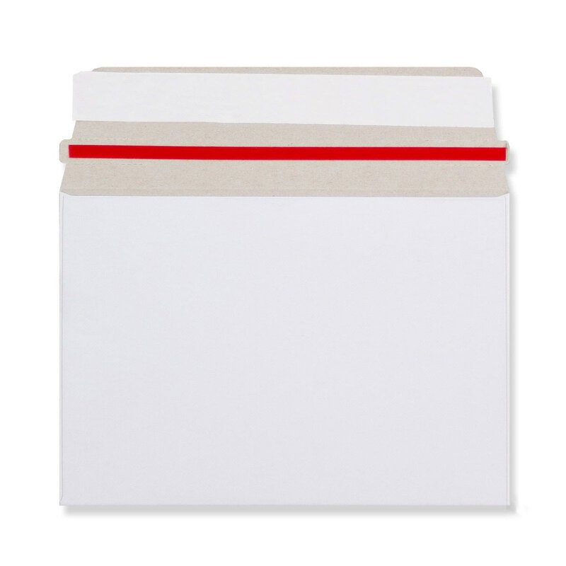 Envelope, mailing bag, white, C6, 114 x 162 mm,  self-adhesive, with tear tape