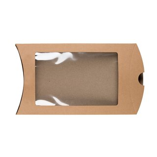 Pillow Box C5 window, 229 x 162 mm, cardboard, beige,...