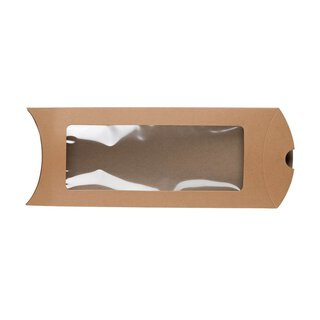 Pillow Box DL window, 220 x 110 mm, cardboard, beige,...