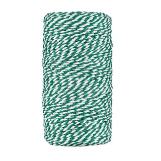 Bakers twine  dark green and white, 100 m cotton yarn for...