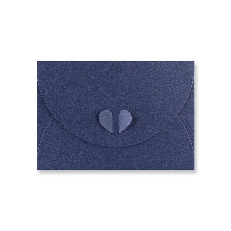 Envelope C6 Blue, with butterfly closure, stable, matt shimmering texture