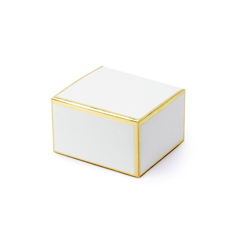 10 x box 6 x 5,5 x 3,5 cm with golden edges