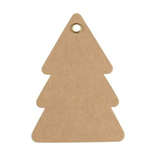 Gift tag Fir, kraft cardboard with eyelet, HT17